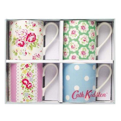 Cath Kidston Set Of 4 Assorted Tea Mugs Gift Boxed