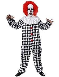 Grusliger Clown-Kostüm - für Erwachsene/Herren - Halloween-Kostüm