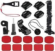 Nsiwem 20 Pezzi Kit Accessori per Gopro Braccio di Regolazione della Staffa Estensioni Supporti per Gopro Fiss