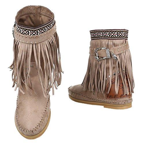 Ital-Design , Bottes et bottines cowboy femme Sable