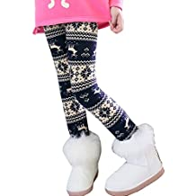 Niña En Mallas Leggings Impresión Elástico Pantalones Plus Espesamiento Leggins 1 150CM