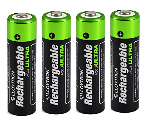 4 X Lloytron Taille AA 2700 mAh NiMH Accu Ultra Rechargeable Batteries