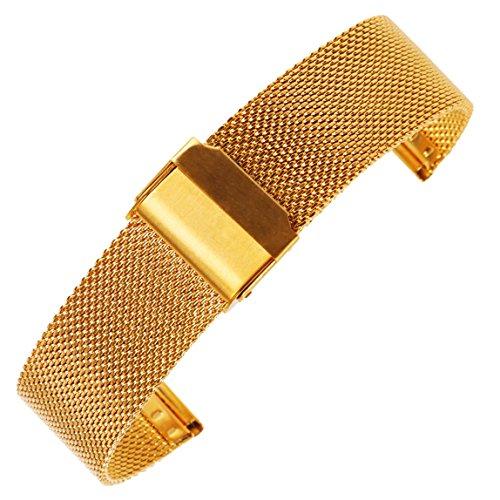 16 millimetri oro maglia cinturino dell'orologio milanese ciclo cinturino...