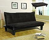 Canapé Clic Clac 3 places en tissu noir - Sepik...