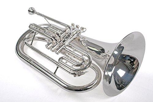 Karl Glaser Marching Bariton in B, Basstrompete, versilbert, Edelstahl Ventile