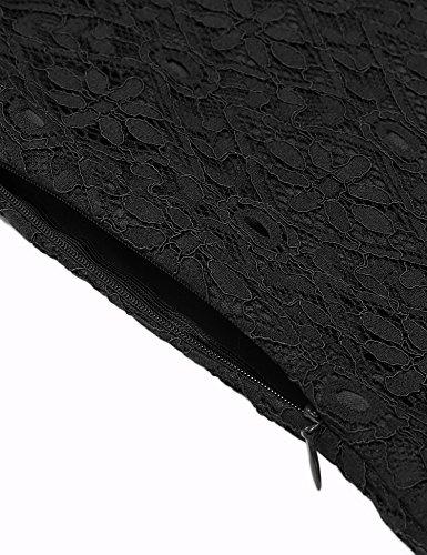 ANGVNS Damen Kleid Abendkleid Partykleid Cocktailkleid Brautjungfer Elegant Langarm Knielang Party Polyester - 5