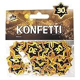 """Udo Schmidt GmbH & Co Zahlen Konfetti 30"""" Schwarz Gold Geburtstag Dekoration Party Tischdeko"""