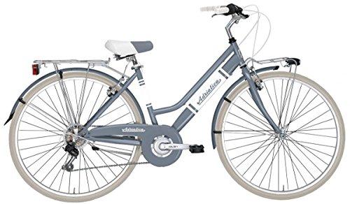 """28'""""City Bike Vélo Vélo Femme de' Vintage 'Panarea Blanc Rouge Bleu Gris"""