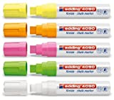 Set di Pennarelli per Finestre / Gesso EDDING 4090 - Vari Colori Disponibili - 5 Pz. - Set colori FLUO