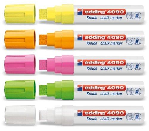 Pack économique Jumbo Marqueurs Edding 4090 - assortiment fluo