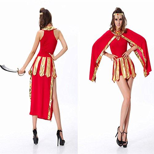 ostüm Griechische Göttin Königin von Ägypten Arabische Mädchen im roten Kleid arabische Kleidung ()