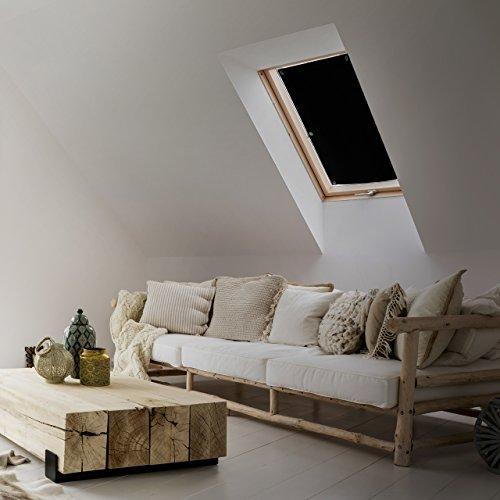 Lumaland Thermo Sonnenschutz mit Saugnäpfen für Dachfenster kompatibel zu Velux Fenstergrößen 2er Set 47 x 92 cm