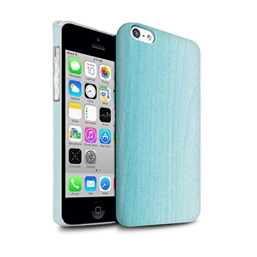 STUFF4 Matte Snap-On Hülle / Case für Apple iPhone 5C / Martini-Glas/Alkohol Muster / Teal Mode Kollektion Ombre Holz