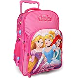 Disney Princess Beauties Trolley School Bag for Children of Age 6 to 8 Years | Attractive Holographic PVC Print Front | Imported Premium Quality | Certified Safe as per European Safety Standards (EN71) | Pink Colour | 16 Inch