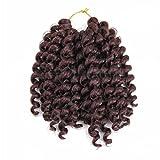 IPUIS Perruque Cheveux Tresses Bouclée Femmes Américaine Africaine 8 Pouces (33#)