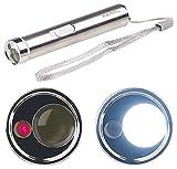 PEARL Stabtaschenlampe: 2in1-LED-Taschenlampe & Laserpointer, Edelstahl-Gehäuse, 15 Lumen (Penlight)