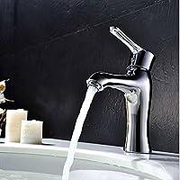 SAEJJ-Elegante, minimalista miscelatore, rame singolo foro-caldo e freddo acqua valvola rubinetto miscelatore - 36 Mm Testa Della Chiave