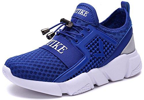 VITIKE Kinder Schuhe Jungen Schuhe Mädchen Sneaker Damen Sportschuhe Outdoor Schuhe Jungen Turnschuhe Laufschuhe Schnürer Freizeit Sportschuhe Kinder Sneaker, 4-blau, 38 EU