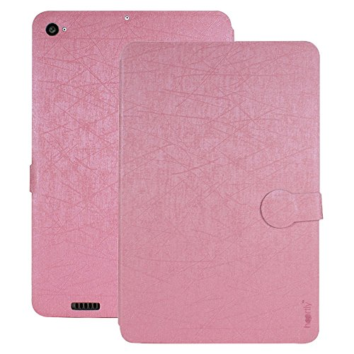 Heartly Premium Luxury PU Leather Flip Stand Back Case Cover For Xiaomi Mi Pad 2 / Mi Pad 3 - Cute Pink