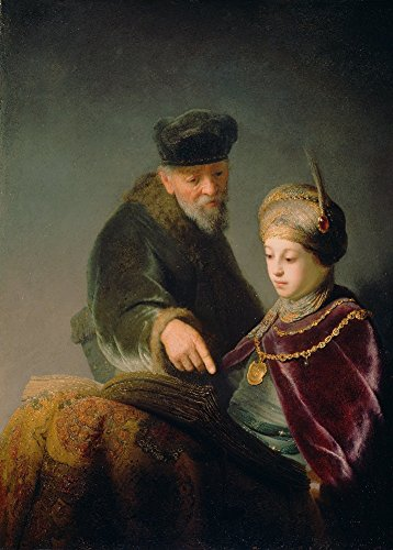 rembrandt-un-jeune-tudiant-et-son-tuteur-dtail-environ-1629-30-sur-format-a3-papiers-brillants-de-25