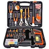 FLOUREON DIY Tool Kit 100 Pcs Hand Tool Set Household Basic Tool Kit