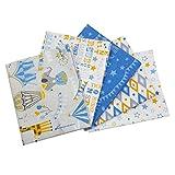 Visage Zirkus-Stoffpaket - 5 Fat Quarters je 45 cm x 53 cm