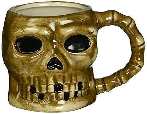 Gruselige Pirat Skull Totenkopf Skelett Keramik Kaffee Tasse–Goth Evil (Treasures Keramik-becher)