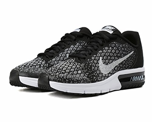 Nike Jungen Air Max Sequent 2 Laufschuhe BLACK/BLACK HEATHER/WOLF GREY