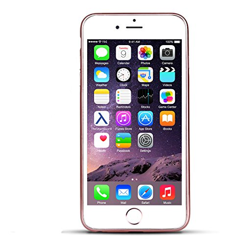 iPhone 8 Plus & 7 Plus Hülle Glitzer-Strass Case Schutzhülle (5,5 Plus Zoll) im stylishen Glamour glitzer Crystal Look mit Strassteinen und Aufdruck für das iPhone 8 Plus & 7 Plus - Farbe: Rosé - Rose rose - Herz
