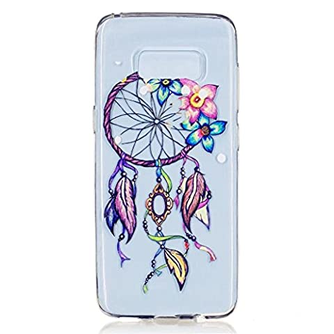 MUTOUREN Samsung Galaxy S8 TPU Silicone Case Cover flexible soft extream thin Durable Creative Multi Colored Pattern Design Full coverage pattern images-Dreamcatcher colorful flower