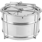 DN Creation Cooker Separator Set (2 Containers) Suitable For 5 Ltrs Prestige/Similar Sized Outer Lid And 5 LTR Inner Lid Pressure Cookers