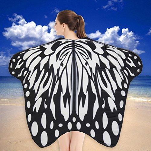 weicher Stoff Schmetterlingsflügel Schal Strand Badetücher Fee Damen Nymph Pixie Kostüm Zubehör (F) ()
