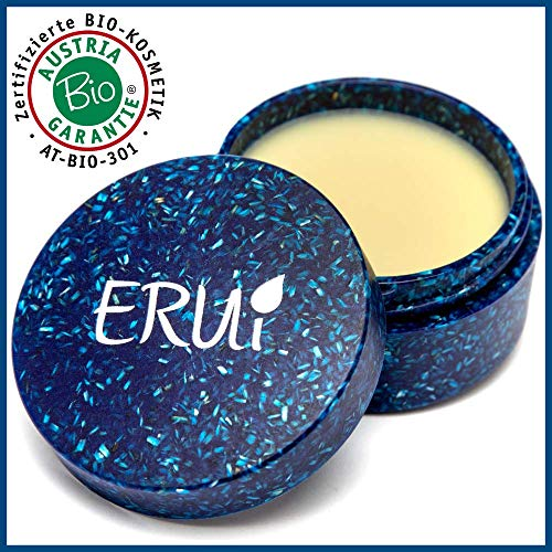 ERUi® Nachhaltiges Bio After Shave Balsam für Herren, 2-in-1 Aftershave Balsam & Hautpflege Gesichtscreme für trockene Haut - Vegan, ohne Plastik, Parfum, Alkohol, Wasser & Parabene (1 x 30 g)