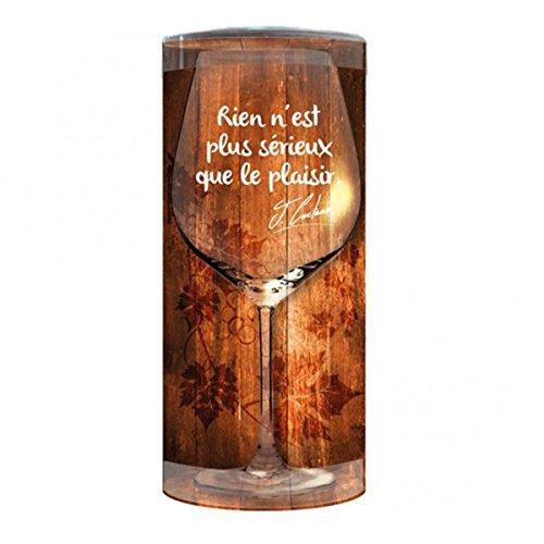 Les Trésors De Lily P9900 - Wine glass humorous 'Messages' gebraucht kaufen  Wird an jeden Ort in Deutschland