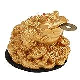 Baoblaze Decoración Casera Rana Sapo Símbolo Suerte Fortuna Riqueza Feng Shui Oriental Chino