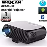Woxan GP100UP Android 6.0, 3500 Lumens LCD 1080P Full-HD LED Portable Multimedia Home Theater Smart Projector For Movie, TVs, Laptops