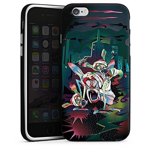 Apple iPhone 5s Housse Étui Protection Coque monstres effrayants Créature légendaire Imagination Housse en silicone noir / blanc