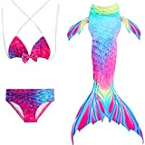 Eizur Girls Mermaid 3pcs Bikini Swimsuit Mermaid Tail Bathing Swimwear Swimming Costume Mermaid