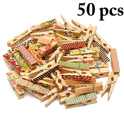 Justdolife Push Pin Clip Holz Tack Clips Push Pin Tack für Fotos (Push-pin-bilderrahmen)