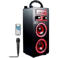 Music Life Altavoces Karaoke con Dos Entrada Micrófonos Portátil inalámbrico Modo Musica Pop/ROK/Normal Lector USB Control Remoto,Smartphones Android