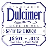 D\'Addario J6401 .012 Plain Steel Single String for Dulcimer