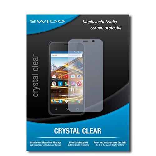 SWIDO Schutzfolie für Archos 40 Neon [2 Stück] Kristall-Klar, Hoher Härtegrad, Schutz vor Öl, Staub & Kratzer/Glasfolie, Bildschirmschutz, Bildschirmschutzfolie, Panzerglas-Folie
