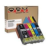 OBV Sparset kompatible Druckerpatronen für Epson Nr. 33 / 33XL passend für Epson XP-530 XP-630 XP-635 XP-830 XP-540 XP-640 XP-645 XP-900 Schwarz/Fotoschwarz/Blau/Rot/Gelb