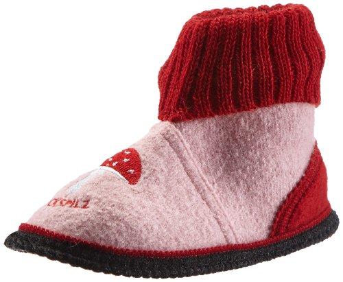 Adelheid  Glückspilz Kinderhüttenschuh, Hi-Top Slippers mixte enfant Rose - Pink (rosa 610)