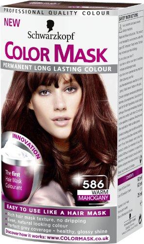 Schwarzkopf Color Mask 586 Warm Mahogany (Grau Permanente Haar Farbstoff)
