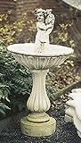 pompidu-living Brunnen, Gartenbrunnen, Zierbrunnen, fountain, Knabe mit Fisch Farbe sandstein