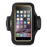 Belkin Slim Fit Plus Sport-Armband (atmungsaktives Neoprenmaterial und verstellbarer Riemen, geeignet für iPhone 6/6s) schwarz