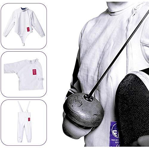 hyfecing Fechten Kleidung-Fechtset für Aluminiumfolie/Degen/Säbel - Wird für Fechtwettkämpfe/Fechtsport/Fechtausrüstung/Fechtausrüstung/Kinderfechten verwendet (S)