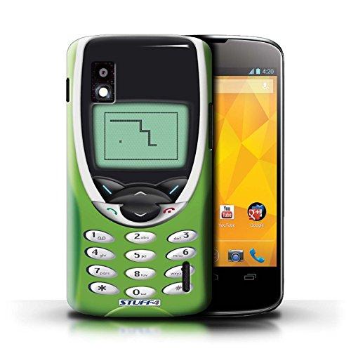 Kobalt® Imprimé Etui / Coque pour LG Nexus 4/E960 / Nokia 3310 gris conception / Série Portables rétro Nokia 8210 chaux