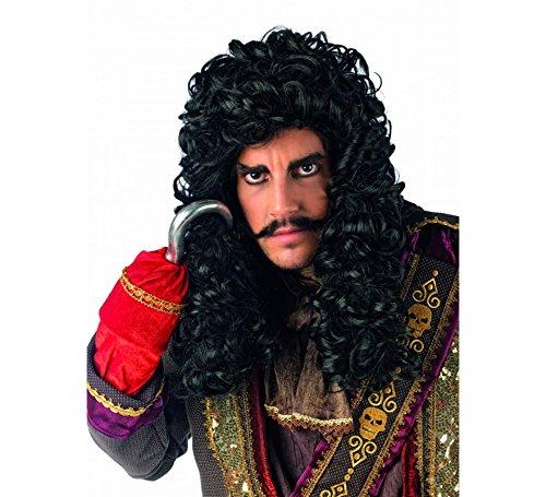Elbenwald Crochet-Accessoire Pirat Captain Erwachsene Kostüm Perücke (Captain Piraten Perücke)